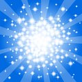 Abstract blue star background vector illustration of a Stock Images