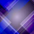 Abstract blue technical background with triangles and stripes Stock Photography
