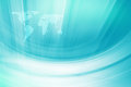Abstract Blue Theme Background whit White Curves and World Map Royalty Free Stock Photo