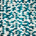 Abstract blue triangle seamless pattern