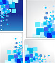 Abstract blue vector backgrounds Royalty Free Stock Images