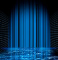 Abstract blue water grid space Royalty Free Stock Image