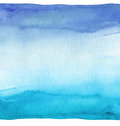 Abstract blue watercolor hand painted background. Textured paper Royalty Free Stock Photo