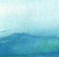 Abstract Blue Watercolor Paint...