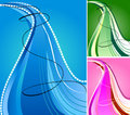 Abstract Blue Wave Stock Image