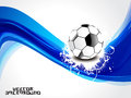 Abstract blue wave background football vector illustration Stock Image