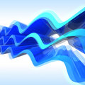 Abstract blue waves Royalty Free Stock Photography
