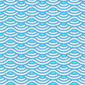 Abstract Blue Waves Seamless P...
