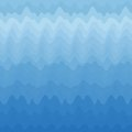 Abstract blue wavy background design creativity of horizontal waves vector illustration Royalty Free Stock Photos