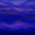 Abstract blue wavy background design creativity of horizontal waves vector illustration eps Stock Photos
