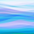 Abstract blue wavy background design creativity of horizontal waves vector illustration eps Stock Photo