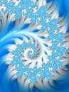 Abstract Blue White Lace Spiral. Wave sea pattern Royalty Free Stock Photo