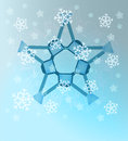 Abstract blue winter symmetry with snow Royalty Free Stock Photos