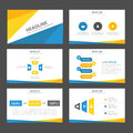 Abstract Blue yellow infographic element and icon presentation templates flat design set for brochure flyer leaflet website