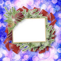 Abstract blur boke background with paper frame Royalty Free Stock Image