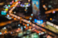 Abstract blur bokeh background of City night light Royalty Free Stock Photo