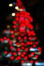 Abstract of blur circle traffic lights.