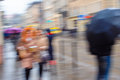 Abstract Blur Of Hurrying People