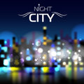 Abstract blur night city background blue Royalty Free Stock Photography