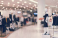 Abstract blurred background of Department store in Shopping Mall Royalty Free Stock Photo