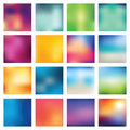 Abstract blurred blur backgrounds set of vector illustration Stock Photography