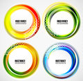 Abstract blurred circle banners templates this is file of eps format Stock Images