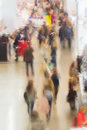 Abstract blurred image of shopping, people, exhibition - trade fair show. For background , backdrop, substrate Royalty Free Stock Photo