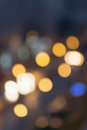 Abstract blurred night city lights. Blur backgrounds concept. Blur of cityscape in Blue hour.  Blur wallpaper concept. Blurry nigh Royalty Free Stock Photo