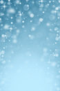Abstract blurred snow bokeh background blue Royalty Free Stock Images