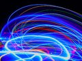 Abstract of Blurry colorful of motions LED lights Royalty Free Stock Photo