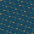 Abstract boho arrows vector seamless pattern. Ethnic navajo design. Native american motive. Cupid Royalty Free Stock Photo