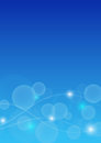 Abstract Bokeh background in blue color