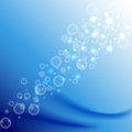 Abstract bokeh blue water background, vector illustration Royalty Free Stock Photo