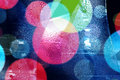 Abstract bokeh and droplets - colorful background Royalty Free Stock Photos