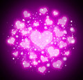 Abstract bokeh hearts background Royalty Free Stock Images