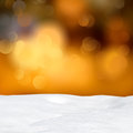 Abstract bokeh lights and snowdrift winter background Royalty Free Stock Image