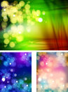 Abstract bokeh three collections background easy all editable Stock Photos