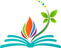 Abstract book logo