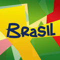 Abstract Brazil Colored Design Royalty Free Stock Photo