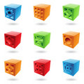 Abstract Brick Cubes Stock Photos