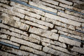 Abstract brickwork pavement Royalty Free Stock Photo