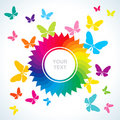 Abstract bright background with butterflies Royalty Free Stock Image