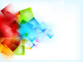 Abstract bright background with squares Stock Photo
