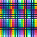 Abstract bright colorful seamless pattern. Vector rainbow square