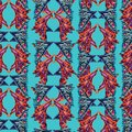 Abstract bright ethnic colors butterfly wings inspired shapes Royalty Free Stock Photo