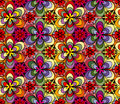 Abstract bright floral seamless pattern for your design Royalty Free Stock Images