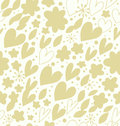 Abstract bright seamless pattern with many cute details decorative doodle background with hearts and flowers hand drawn damask Royalty Free Stock Photo