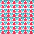 Abstract bright triangles seamless pattern eps Royalty Free Stock Photos