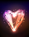 Abstract brilliant shiny heart Royalty Free Stock Photo