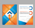 Abstract Brochure Design Template with gear vector Royalty Free Stock Photo